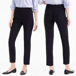 J Crew French Girl Slim Crop Pant Black 365 Crepe